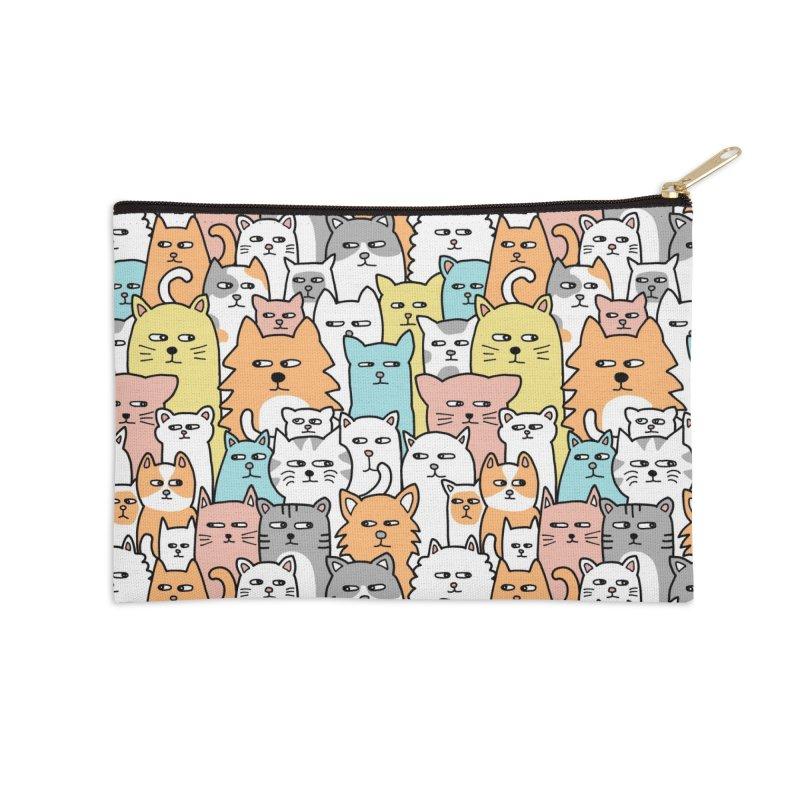 Suspicious Meow Accessories Zip Pouch by Threadless Artist Shop