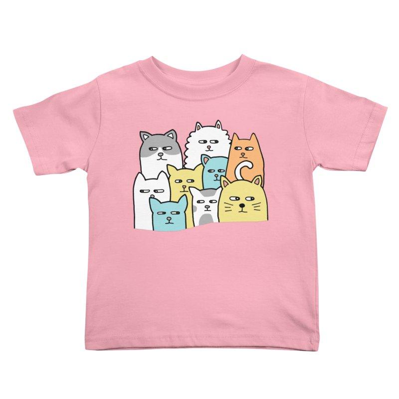 Suspicious Meow Kids Toddler T-Shirt by Threadless Artist Shop