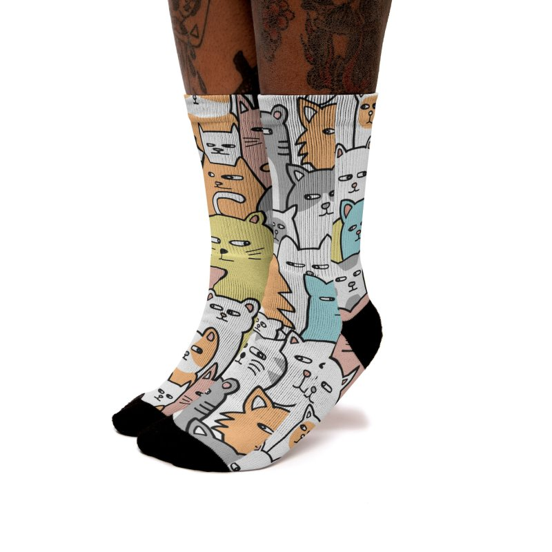 Suspicious Meow Women's Socks by Threadless Artist Shop