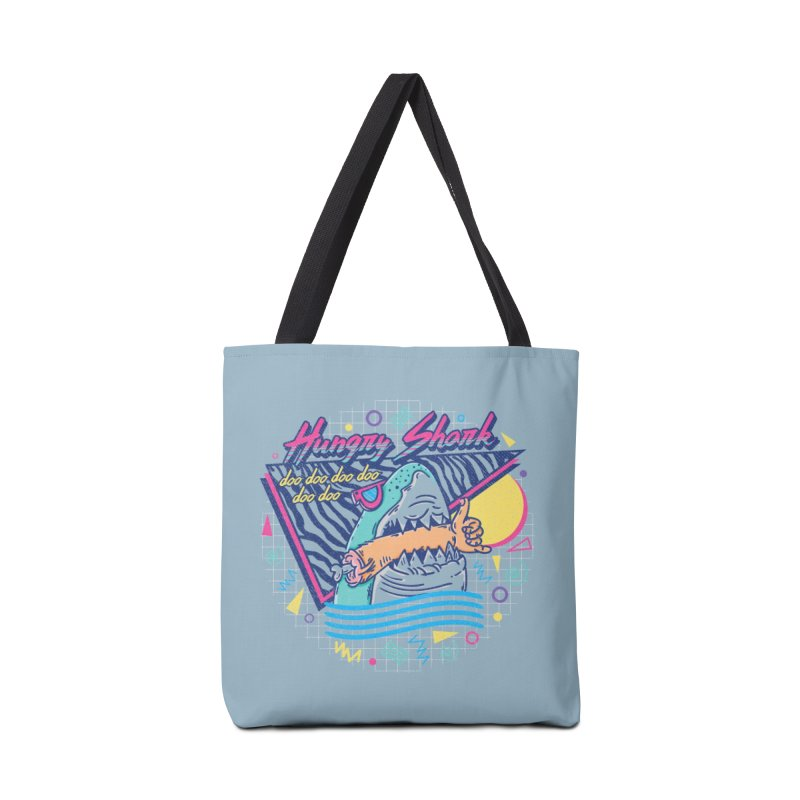 HUNGRY SHARK Accessories Bag by Threadless Artist Shop