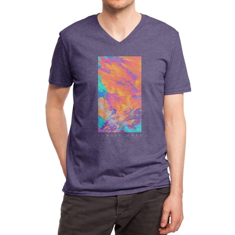 Sunset Wars Men's V-Neck by Threadless Artist Shop