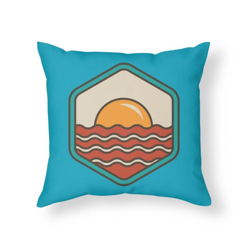 BREAKFAST IN SHORE Home Throw Pillow by Threadless Artist Shop