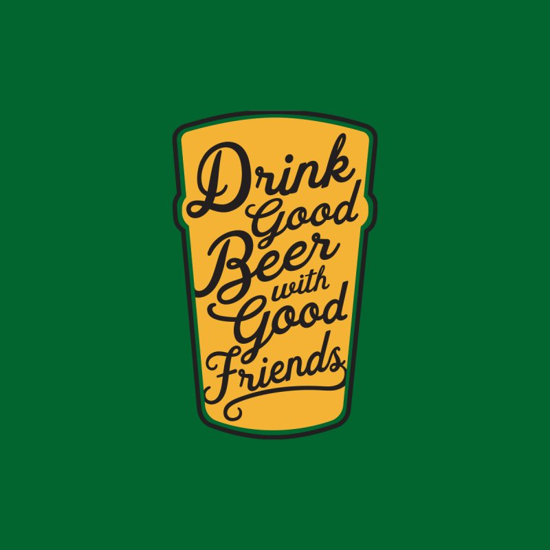 Good Beer, Good Friends Men's T-Shirt by Threadless Artist Shop