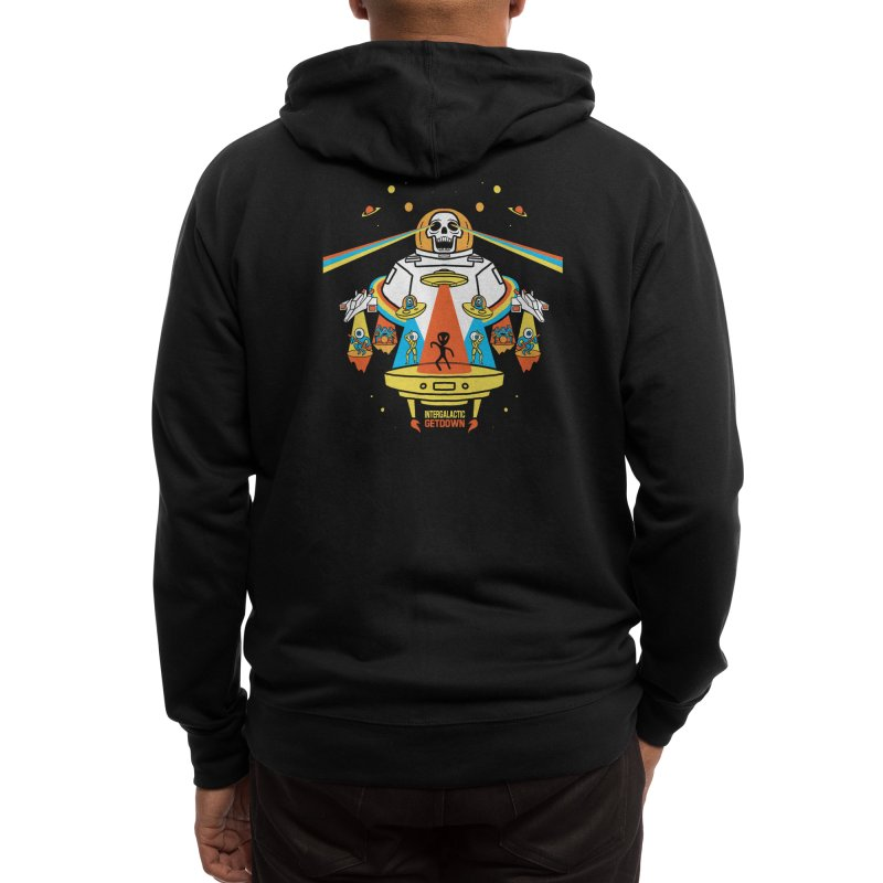 Intergalactic Get Down Men's Zip-Up Hoody by Threadless Artist Shop
