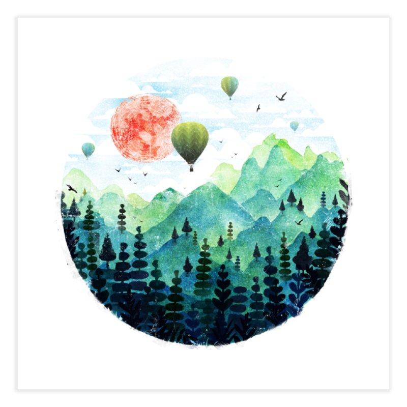 Roundscape Home Fine Art Print by Threadless Artist Shop