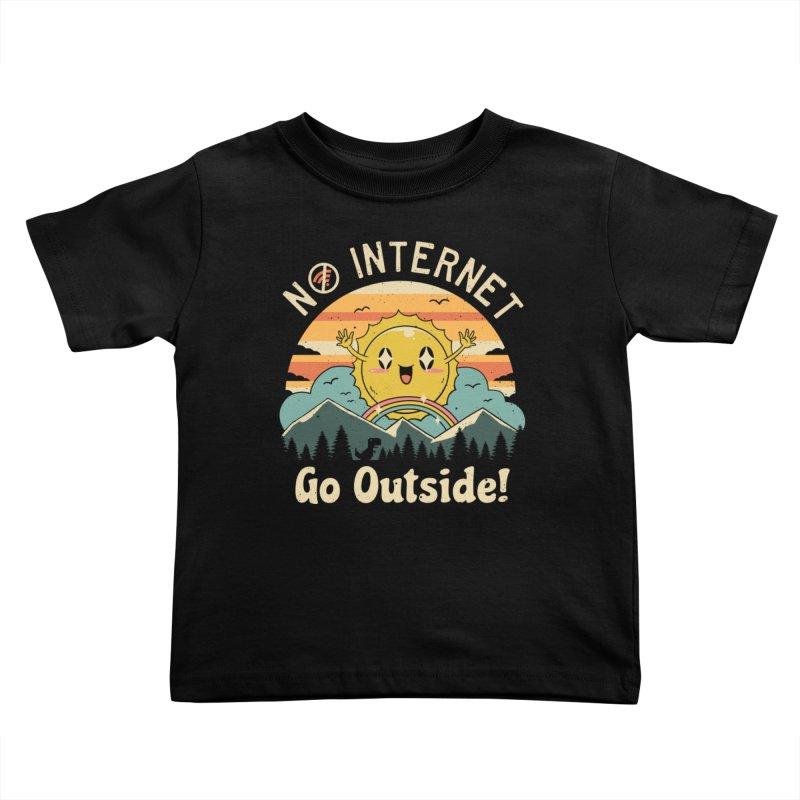 No Internet Vibes! Kids Toddler T-Shirt by Threadless Artist Shop