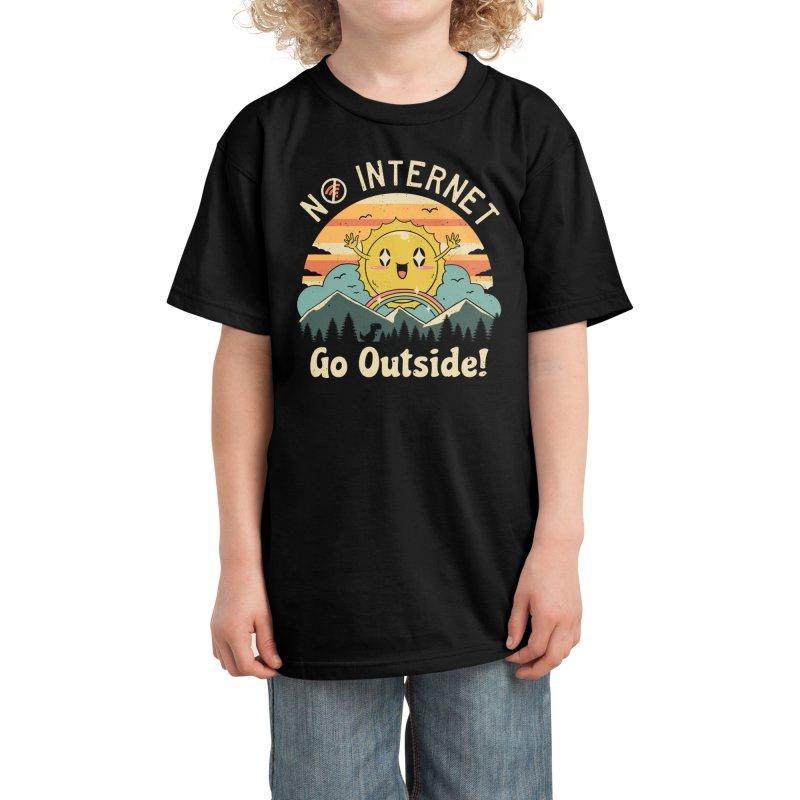 No Internet Vibes! Kids T-Shirt by Threadless Artist Shop