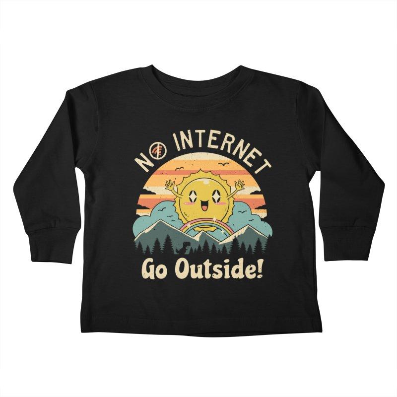 No Internet Vibes! Kids Toddler Longsleeve T-Shirt by Threadless Artist Shop