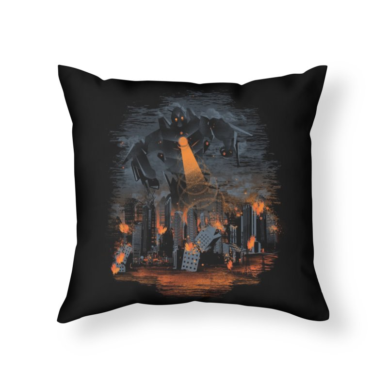 Evil Will Burn Home Throw Pillow by Threadless Artist Shop