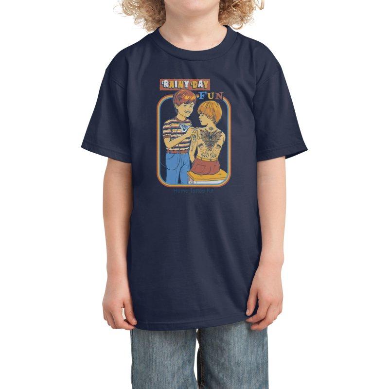 Rainy Day Fun Kids T-Shirt by Threadless Artist Shop