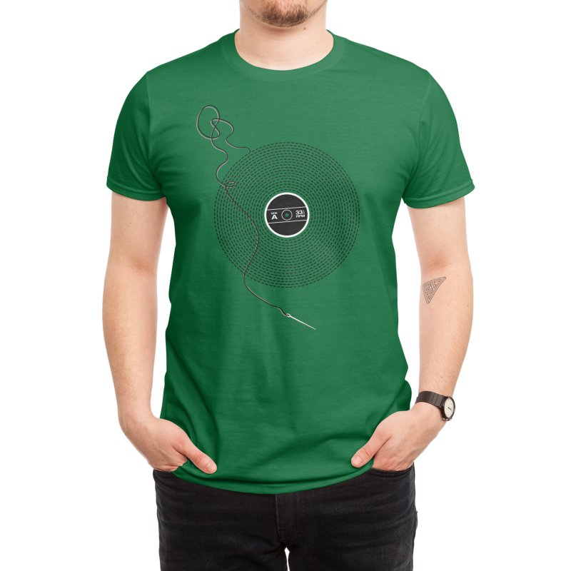 Put the Needle on the Record Men's T-Shirt by Threadless Artist Shop