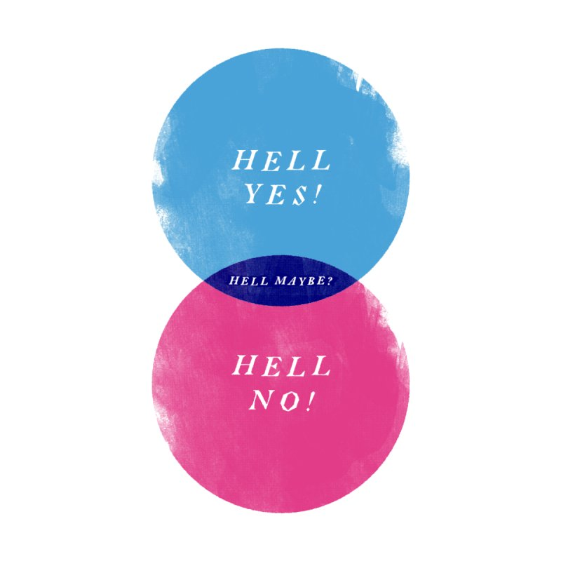 Hell Maybe Men's T-Shirt by Threadless Artist Shop
