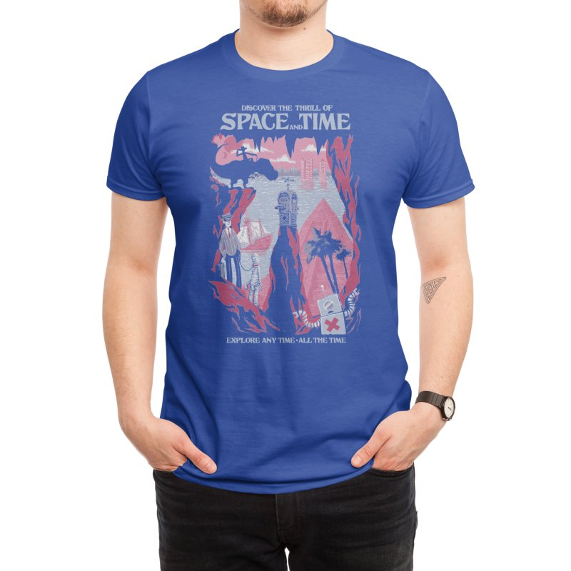 Space and Time Men's T-Shirt by Threadless Artist Shop