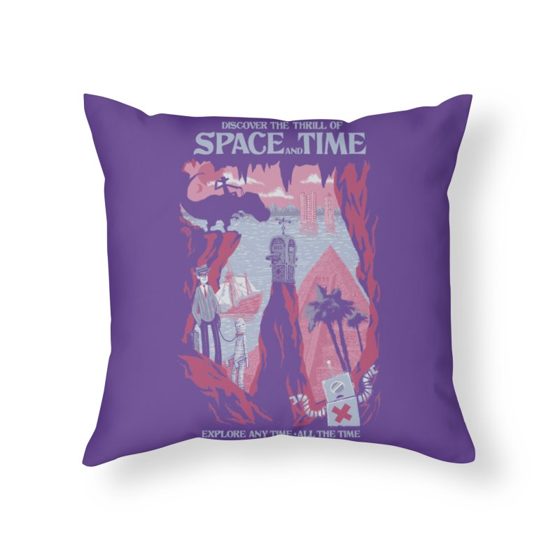 Space and Time Home Throw Pillow by Threadless Artist Shop