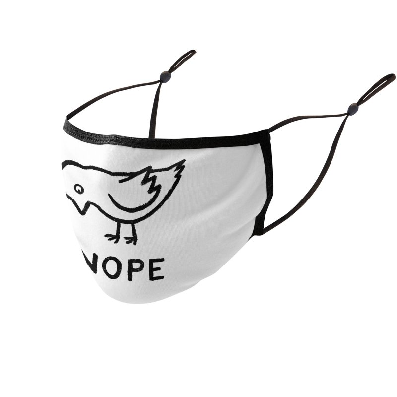 Nope Accessories Face Mask by Threadless Artist Shop
