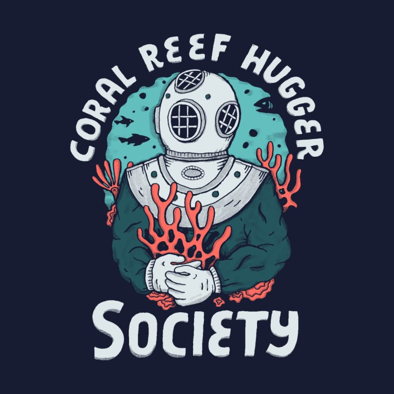 Coral Reef Hugger Society Men's T-Shirt by Threadless Artist Shop