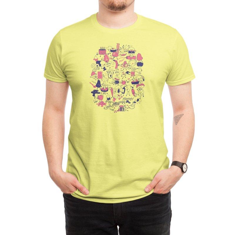 Food Fight! Men's T-Shirt by Threadless Artist Shop