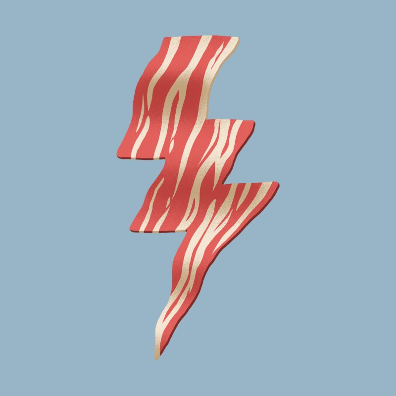 Powered by Bacon Men's V-Neck by Threadless Artist Shop