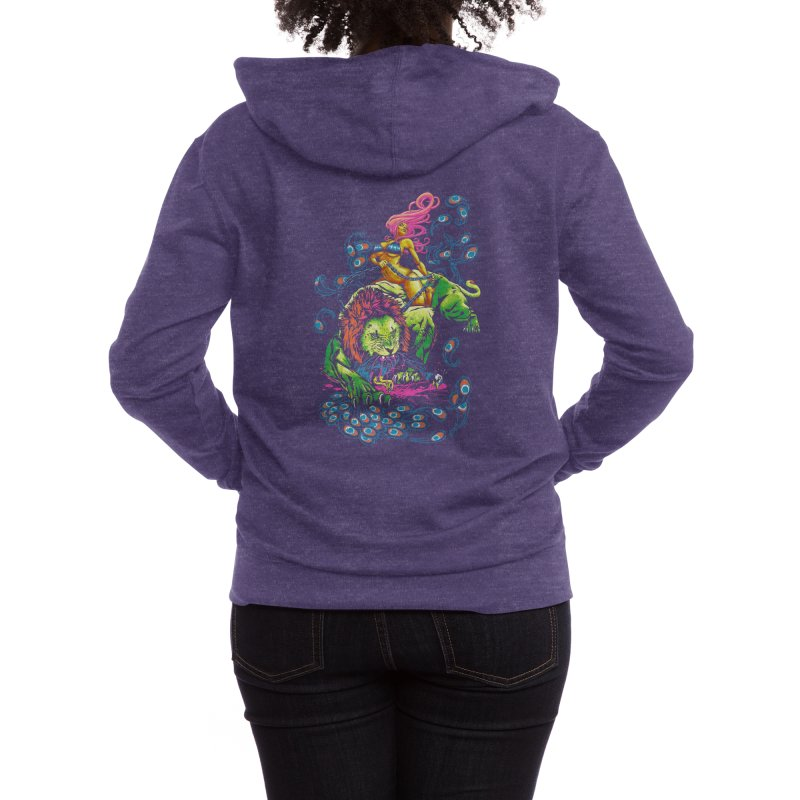 SOUR PUSS Women's Zip-Up Hoody by Threadless Artist Shop