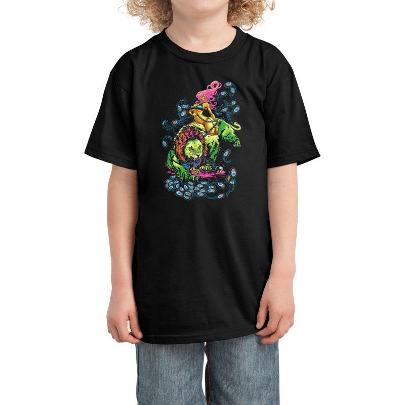 SOUR PUSS Kids T-Shirt by Threadless Artist Shop