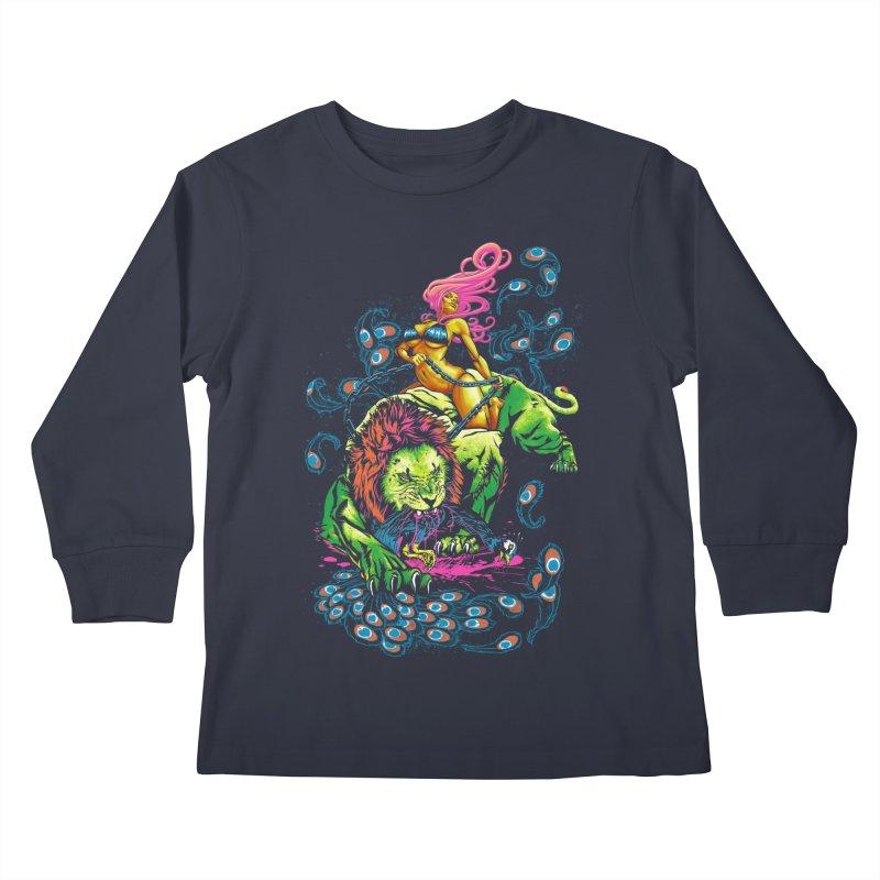 SOUR PUSS Kids Longsleeve T-Shirt by Threadless Artist Shop