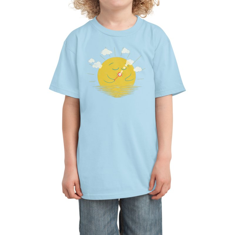 Partly Cloudy Kids T-Shirt by Threadless Artist Shop