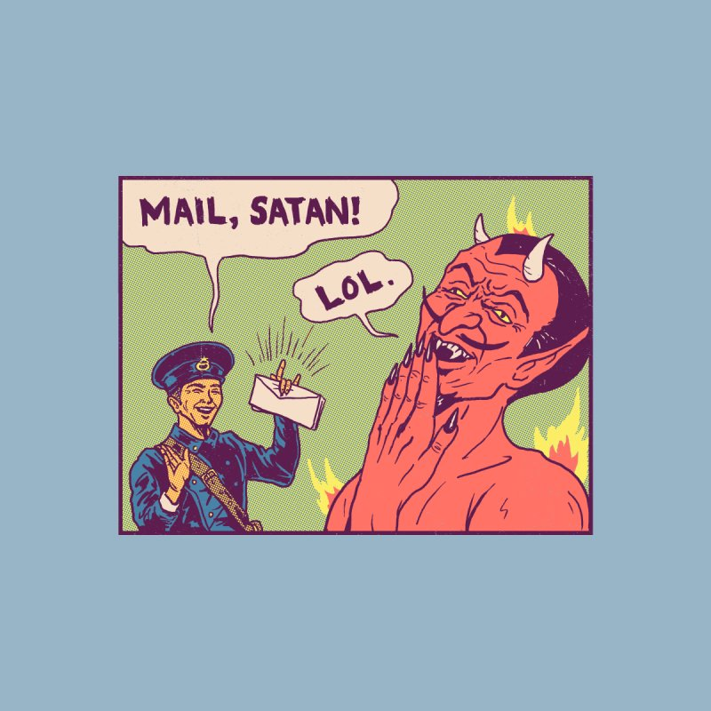 Mail, Satan! Men's T-Shirt by Threadless Artist Shop
