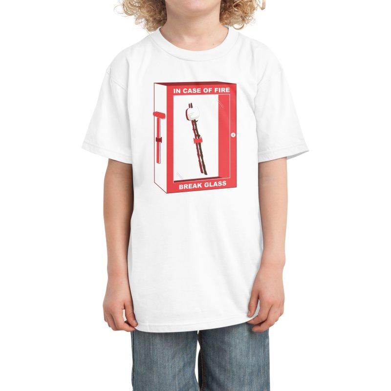 In Case of Fire Kids T-Shirt by Threadless Artist Shop
