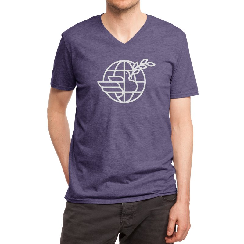 Peace in the World Men's V-Neck by Threadless Artist Shop