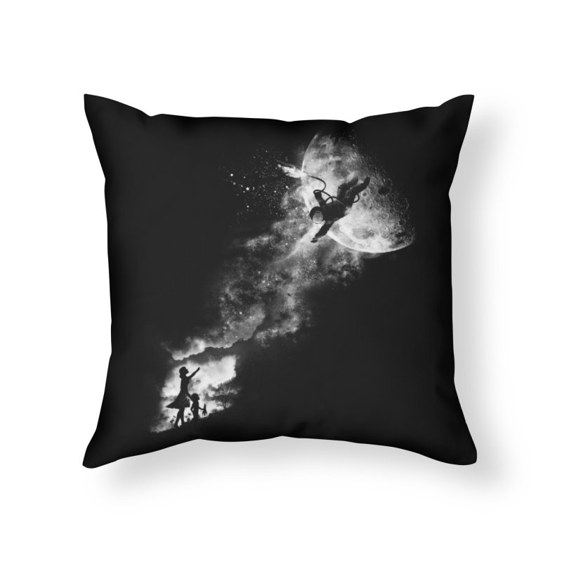 Tell My Wife I Love Her Very Much, She Knows Home Throw Pillow by Threadless Artist Shop