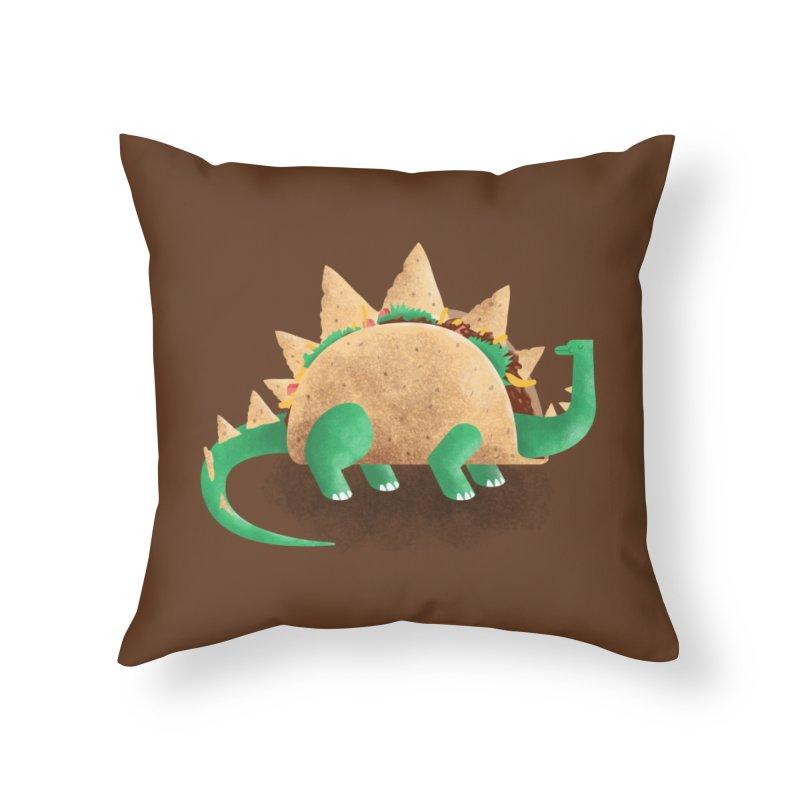 Tacosaurus Home Throw Pillow by Threadless Artist Shop