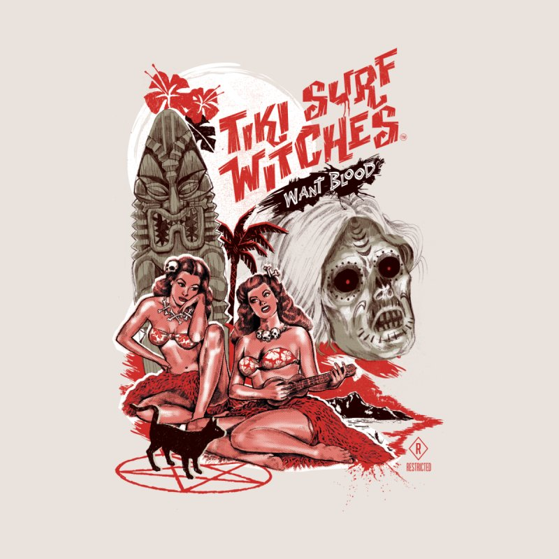 Tiki Surf Witches Want Blood Men's T-Shirt by Threadless Artist Shop