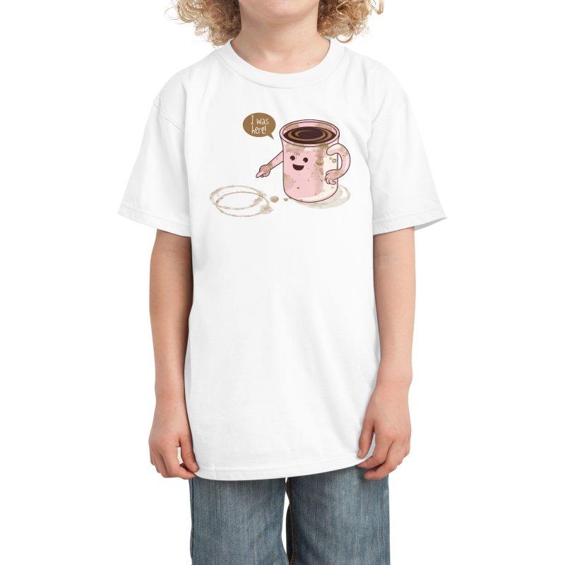 I Was Here Kids T-Shirt by Threadless Artist Shop