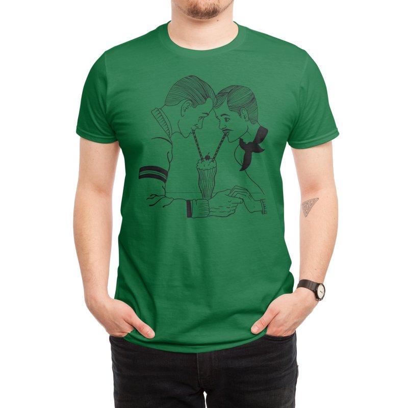 Milkshake for two! Men's T-Shirt by Threadless Artist Shop