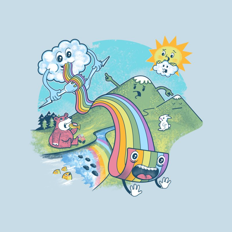 Rainbow Pasta Women's T-Shirt by Threadless Artist Shop