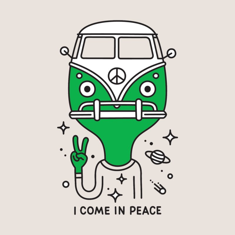 I come in peace Men's T-Shirt by Threadless Artist Shop