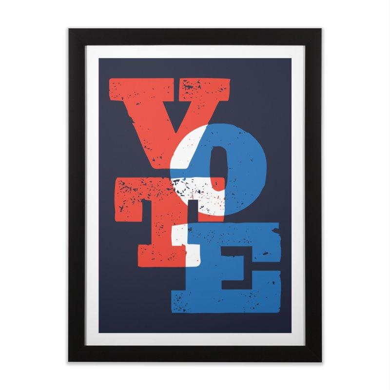 VOTE Home Framed Fine Art Print by Threadless Artist Shop