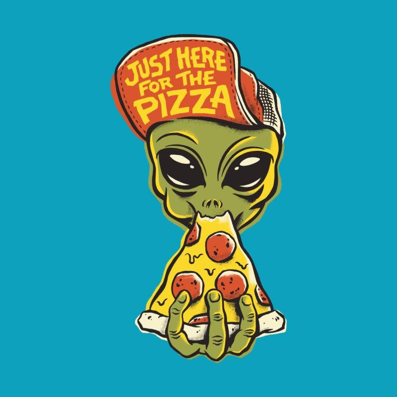 Just Here For Pizza Men's T-Shirt by Threadless Artist Shop