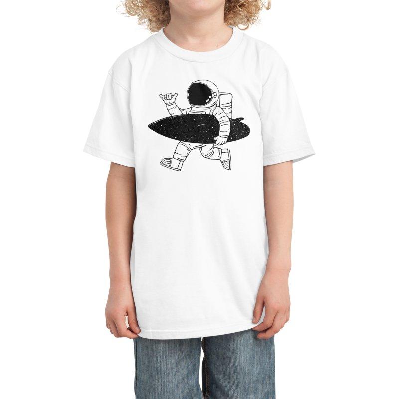 Space Surfer Kids T-Shirt by Threadless Artist Shop