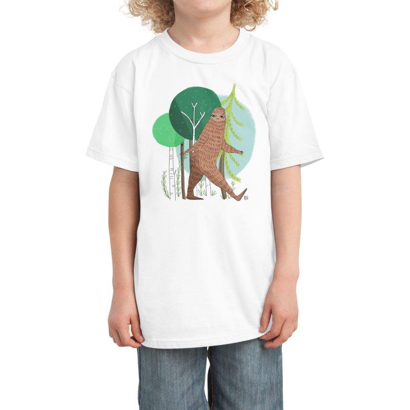 Big Foot, Big Heart Kids T-Shirt by Threadless Artist Shop