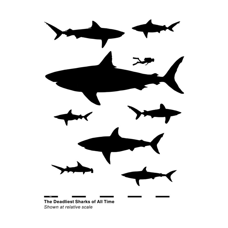 The Deadliest Sharks of All Time Men's T-Shirt by Threadless Artist Shop