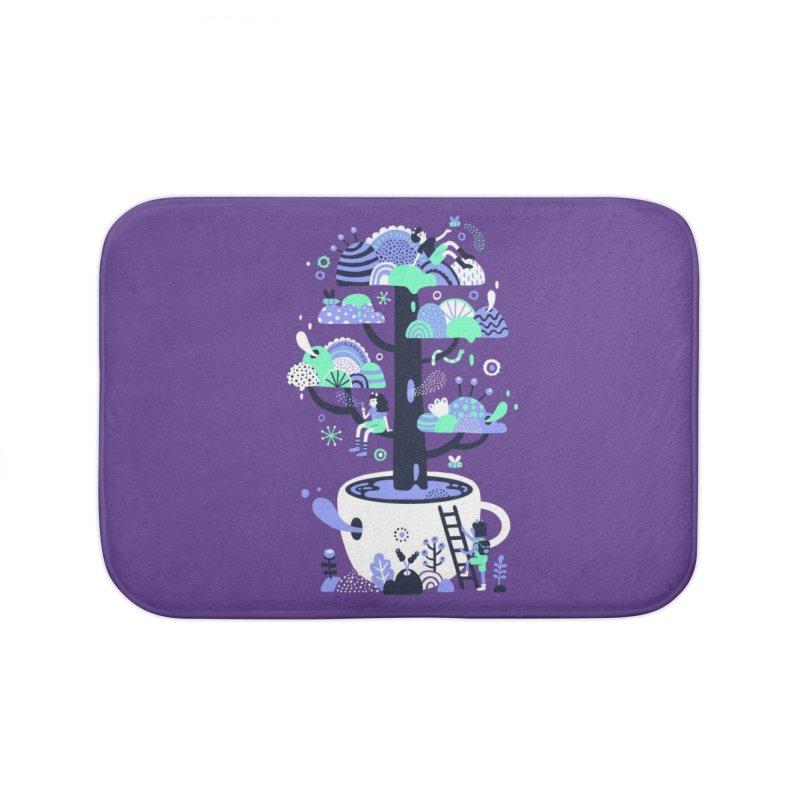 Up a tree cup Home Bath Mat by Threadless Artist Shop