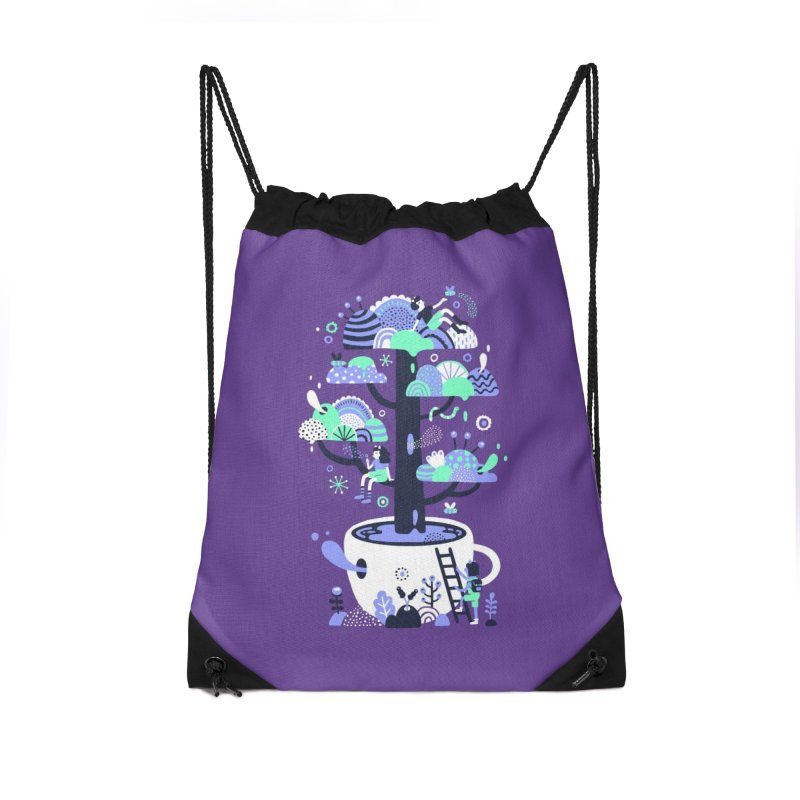 Up a tree cup Accessories Bag by Threadless Artist Shop