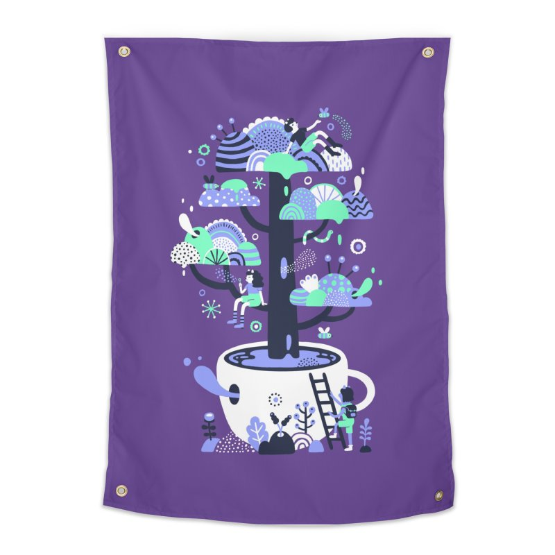 Up a tree cup Home Tapestry by Threadless Artist Shop