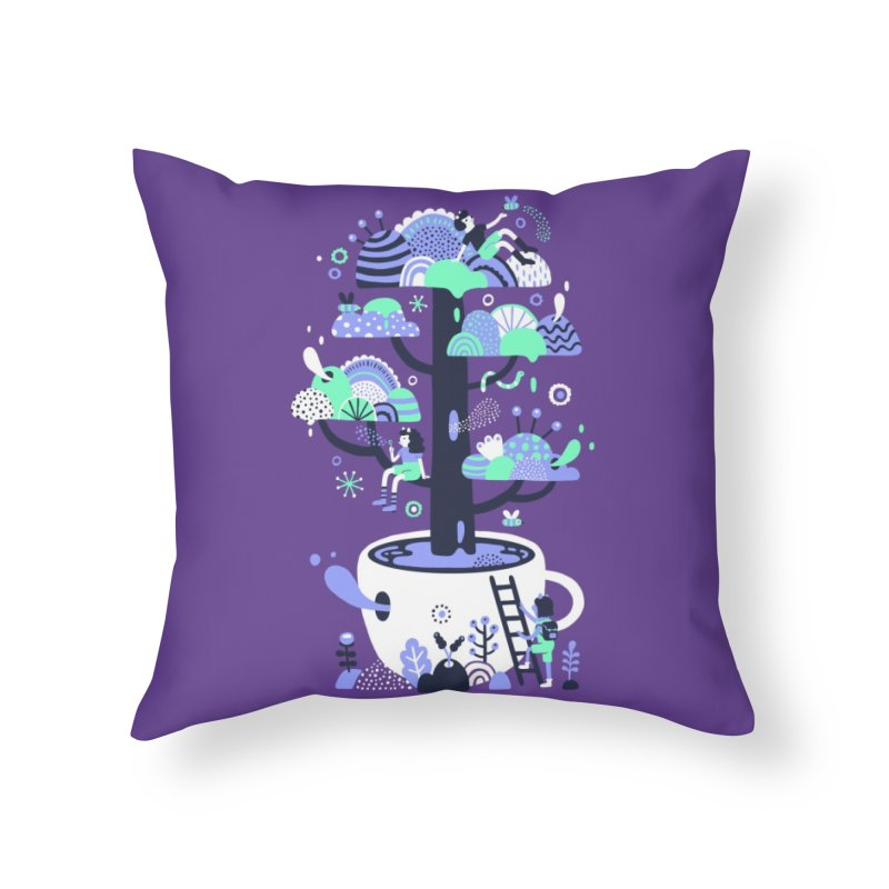 Up a tree cup Home Throw Pillow by Threadless Artist Shop