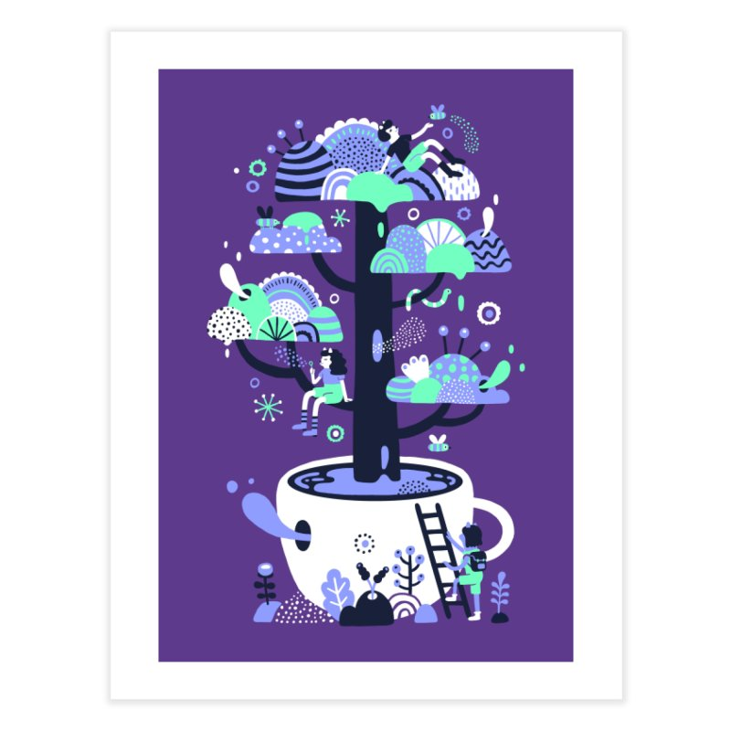 Up a tree cup Home Fine Art Print by Threadless Artist Shop