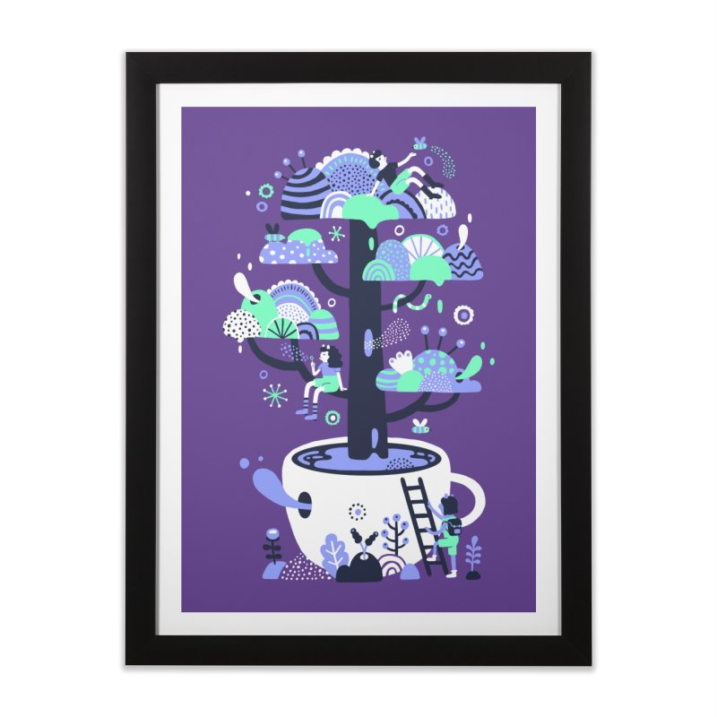 Up a tree cup Home Framed Fine Art Print by Threadless Artist Shop