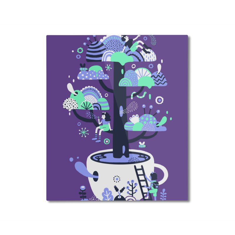 Up a tree cup Home Mounted Aluminum Print by Threadless Artist Shop