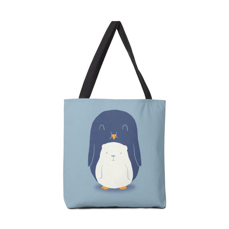 My Belly Is A Polar Bear Accessories Bag by Threadless Artist Shop