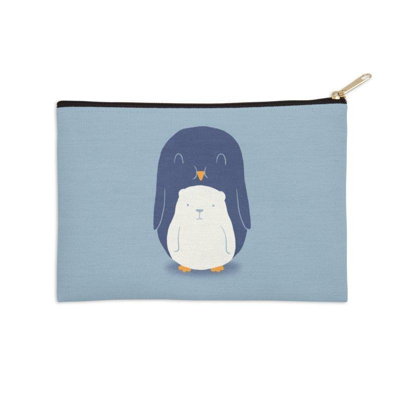 My Belly Is A Polar Bear Accessories Zip Pouch by Threadless Artist Shop